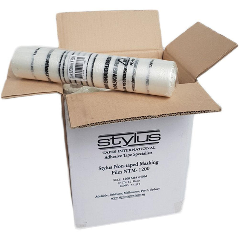 Stylus KWIKMASK Pre Fold Masking Film Roll 1.2m x 50m Box of 12 [Special]-Protection-PaintAccess.com.au