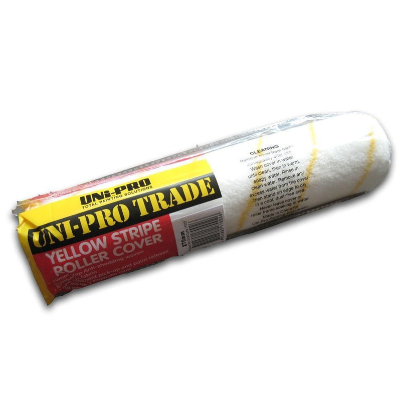 Uni-Pro Trade Woven Synthetic Yellow Stripe 10mm nap-Roller-PaintAccess.com.au