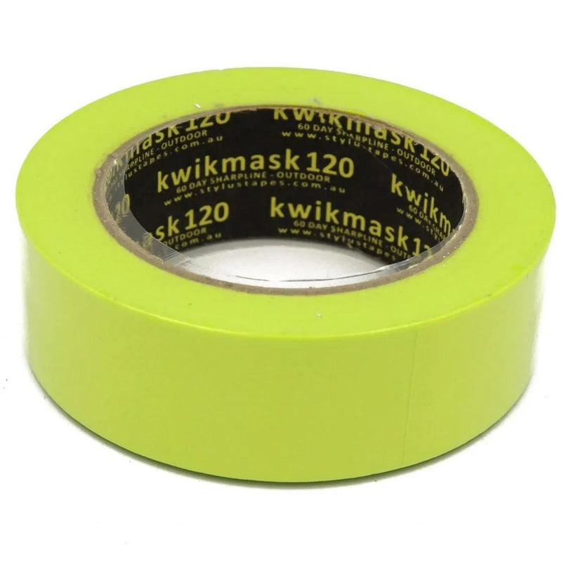 Kwikmask 120 Green 60 Days Sharp Line - Indoors & Outdoors Masking Tape-Masking tape-PaintAccess.com.au