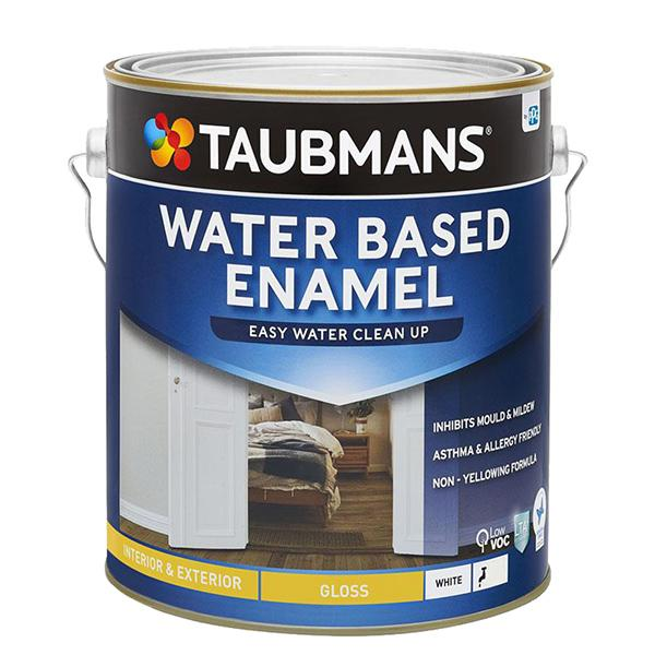 Taubmans Water Based Enamel Gloss White - 4L - New Product!-Paint-PaintAccess.com.au