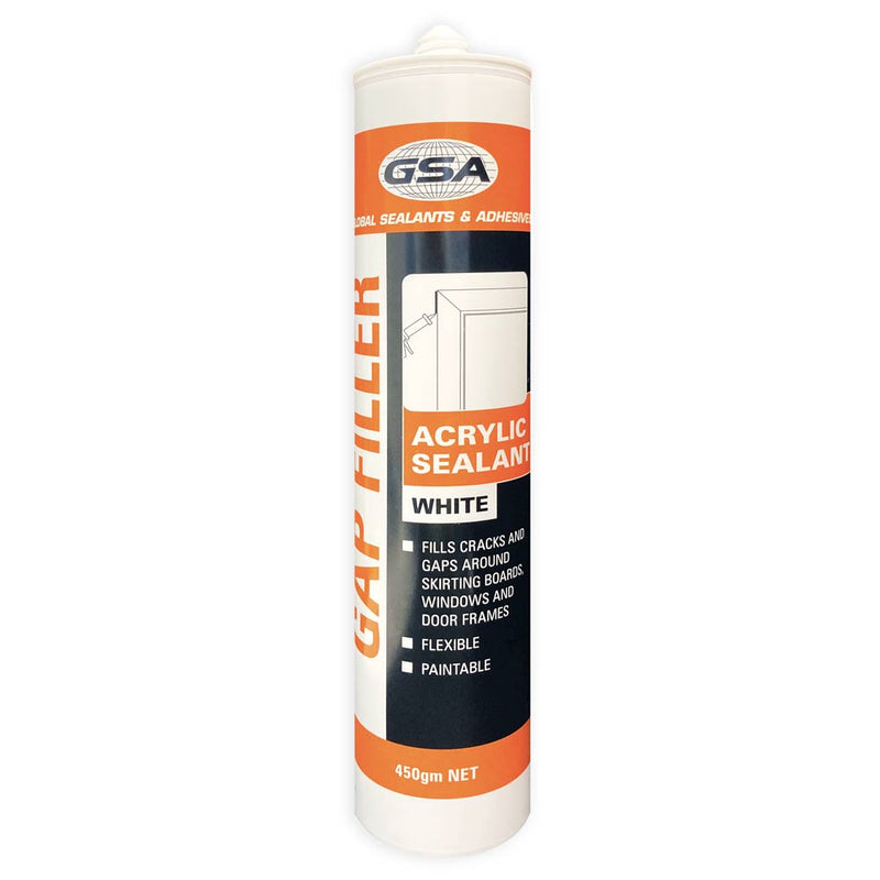 GSA Acrylic Sealant Gap Filler 450g single White