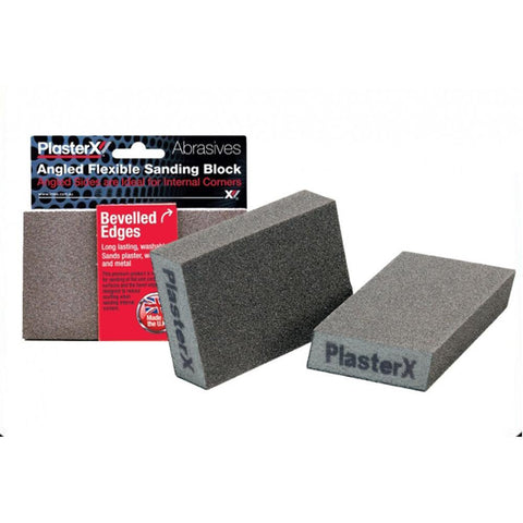 PlasterX - Flexible Sanding Block Bevelled Edges Medium Grit