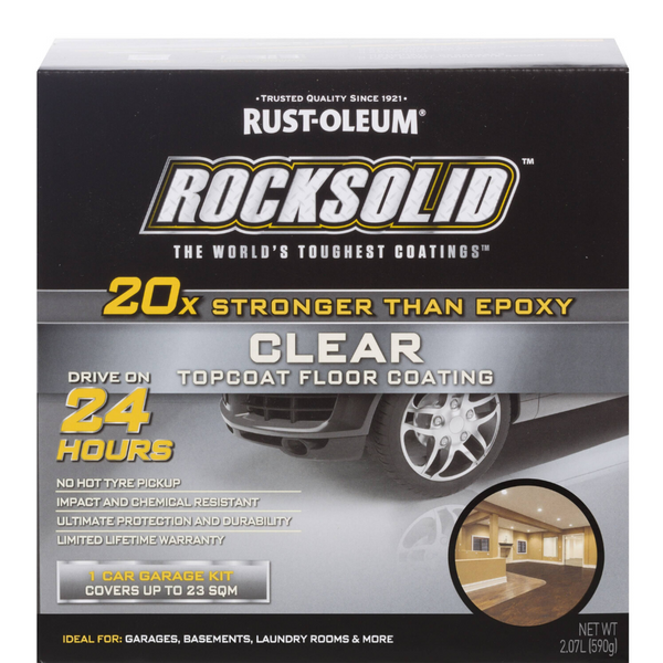 Rust-Oleum Rocksolid Garage Floor Coating Kit - Clear top coat-Kit-PaintAccess.com.au