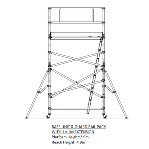 Oldfields Standard Scaffold Extension Pack B 2.9m