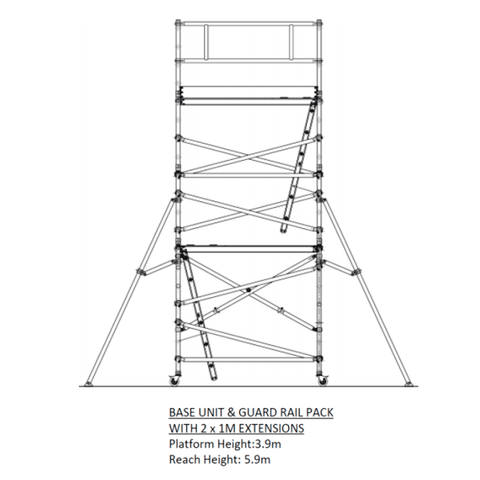 Oldfields Standard Scaffold Extension Pack C 3.9m