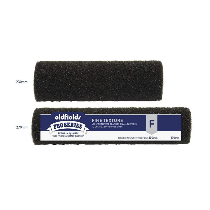 Oldfields Fine Texture Black Foam Paint Roller 230/270mm-Roller-PaintAccess.com.au