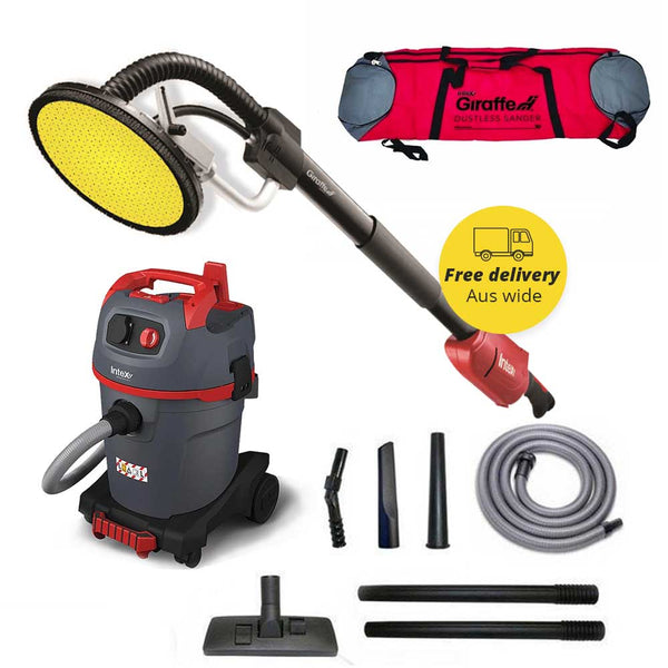 GIRAFFE Dustless Electric Sander + STARMIX Vacuum + Vac Accessories Package