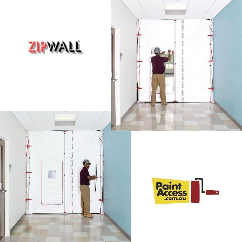 Zip Wall Hall Kit - 3 x Spring-loaded Poles + Accessories (ZHK3)-Protection-PaintAccess.com.au