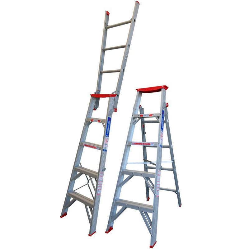 INDALEX 1.5-2.6m 150kg Tradesman Dual Purpose Aluminium Ladder-Ladder-PaintAccess.com.au