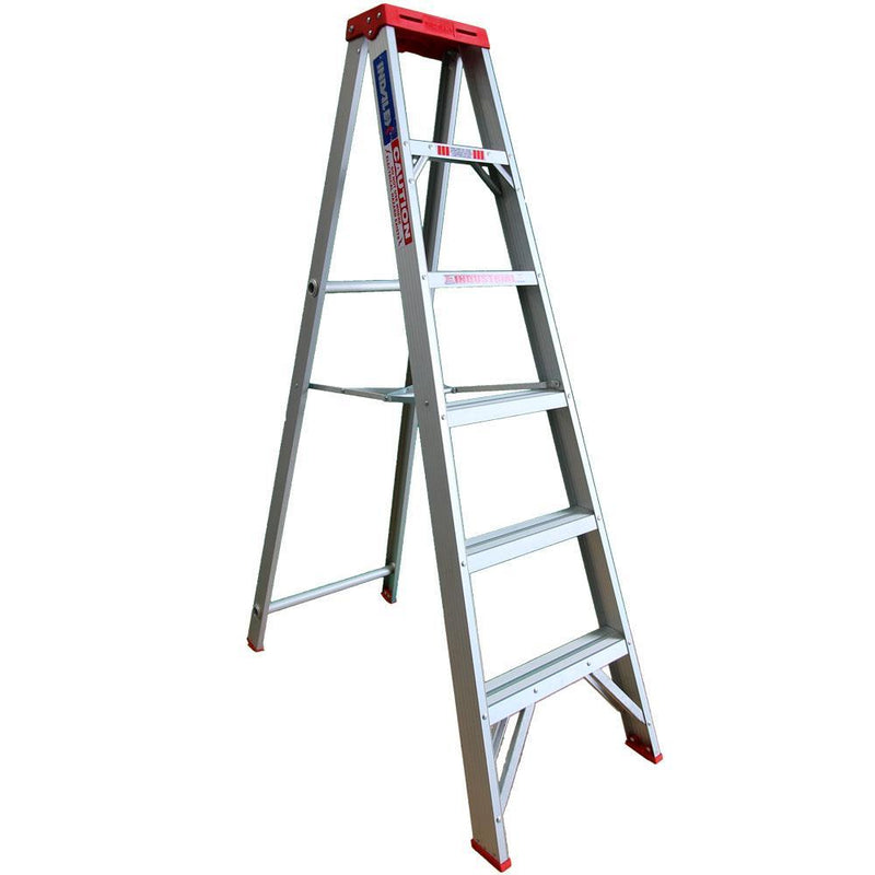INDALEX 1.8m 135kg Tradesman Single-Sided Aluminium Step Ladder-Ladder-PaintAccess.com.au