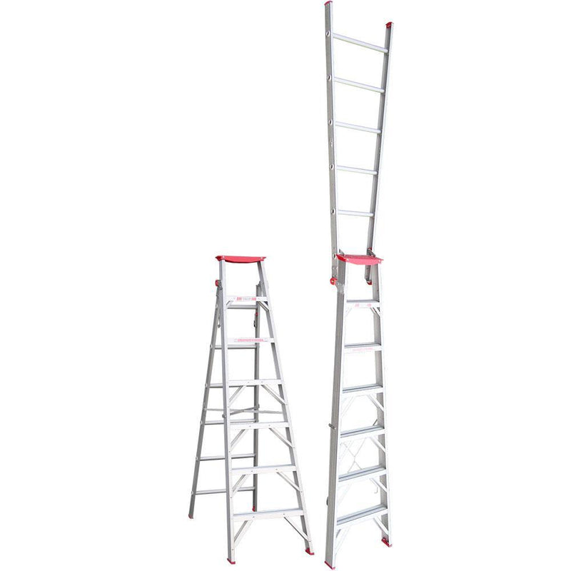 INDALEX 2.1-3.8m 120kg Tradesman Dual Purpose Aluminium Ladder-Ladder-PaintAccess.com.au