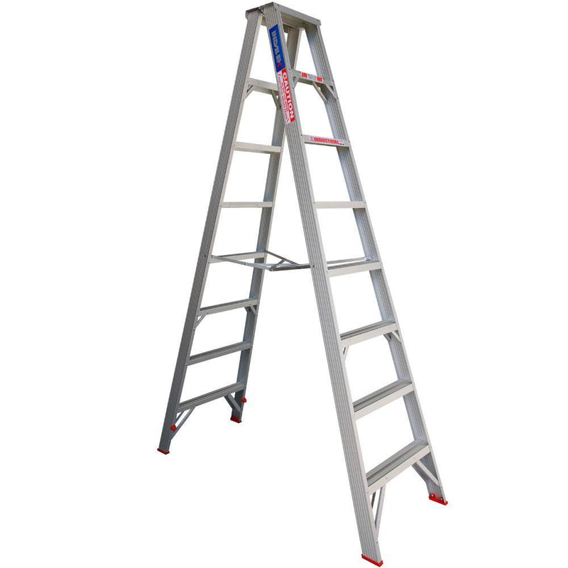 INDALEX 2.4m 120kg Tradesman Double-Sided Aluminium Step Ladder-Ladder-PaintAccess.com.au