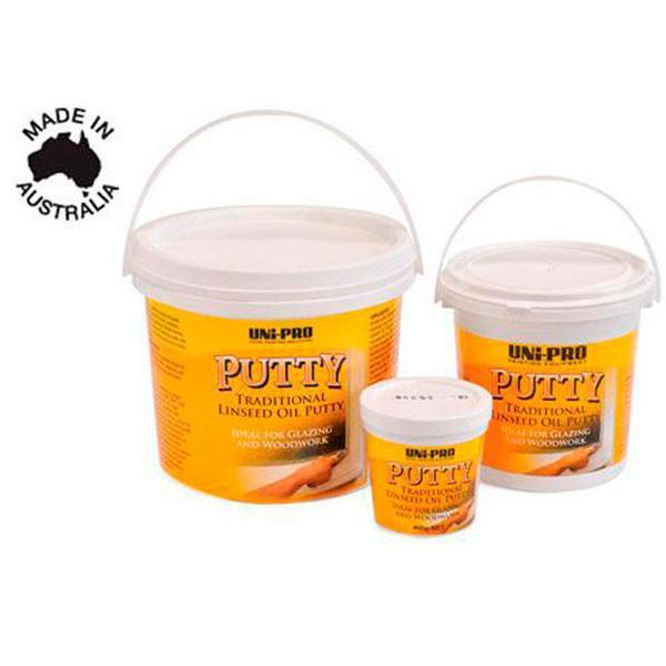 Uni-Pro Traditional Linseed Oil Putty 400g/ 1.75kg/ 4.5kg-Fillers & Adhesives-PaintAccess.com.au