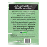 Uni-Pro OXO-Biodegradable Heavy Duty Plastic Drop Sheet 3.6m x 2.7m (12' x 9')-Drop Sheet-PaintAccess.com.au