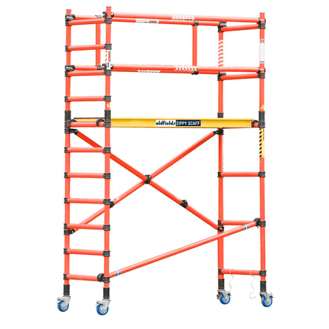 Oldfields Fibreglass Folding Scaffold & Guardrail Extension Pack