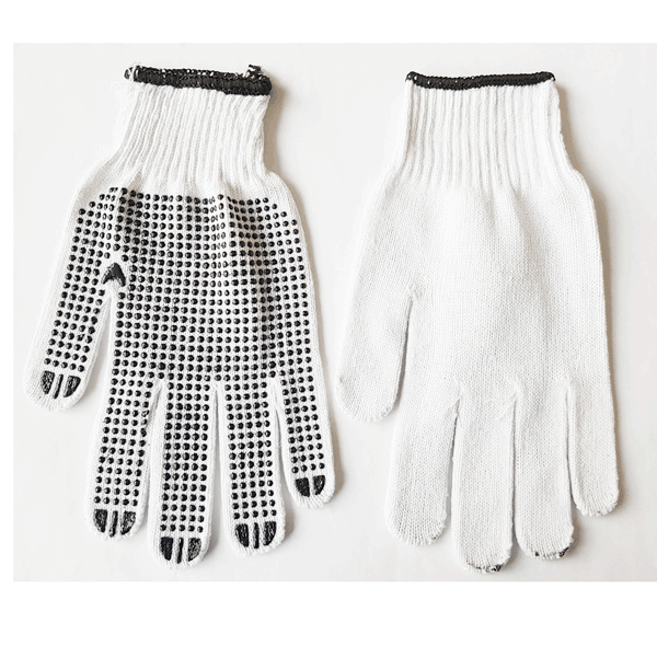 Cotton Gloves - Trade Knitted Poly Dotted-Health & Safety-PaintAccess.com.au