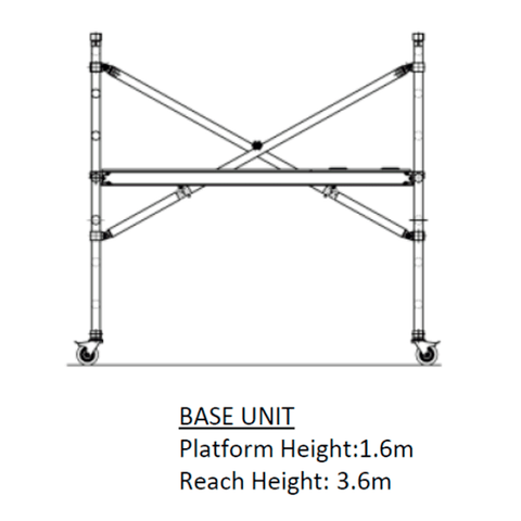Oldfields Standard Zippy Scaffold Base Unit 1.6m