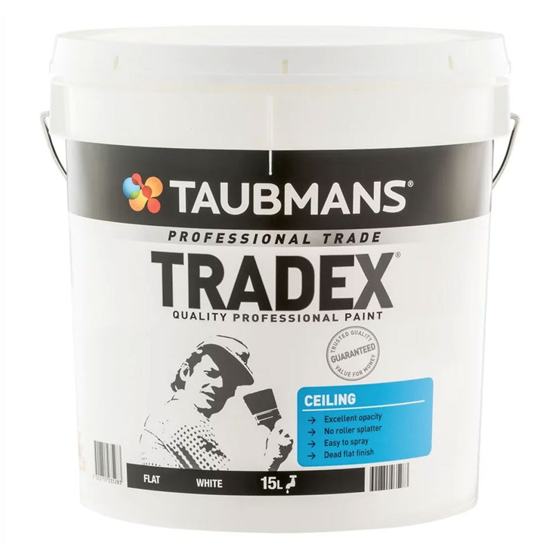 Taubmans Tradex White Flat Interior Ceiling Paint - New Product-Paint-PaintAccess.com.au