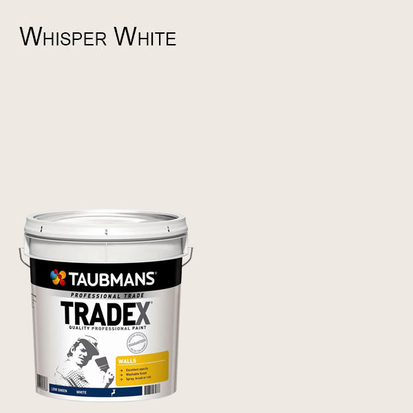 Taubmans Tradex White Low Sheen - 10L - Interior Wall Paint - New Product!-Paint-PaintAccess.com.au