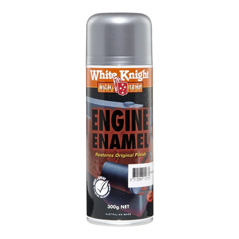WHITE KNIGHT®  High Temp Engine Enamel Spray Paint White Knight 300g