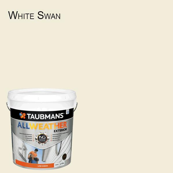 Taubmans All Weather Low Sheen - 15L - White Exterior Paint - New Product!-Paint-PaintAccess.com.au