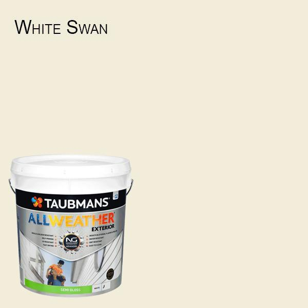Taubmans All Weather Semi Gloss - 15L - White Exterior Paint Self Priming-Paint-PaintAccess.com.au
