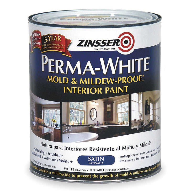 Zinsser Perma-White Satin 1L - Mould & Mildew Proof Interior Finish Paint-Paint-PaintAccess.com.au