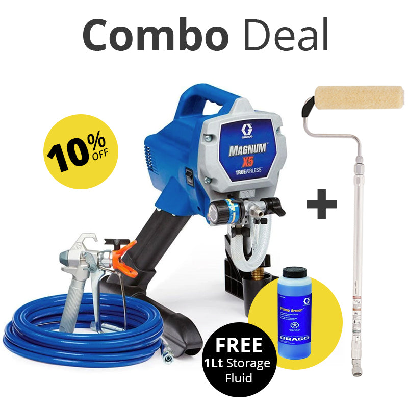 Graco Magnum X5 Electric Airless Sprayer and  Pressure Roller - Combo deal