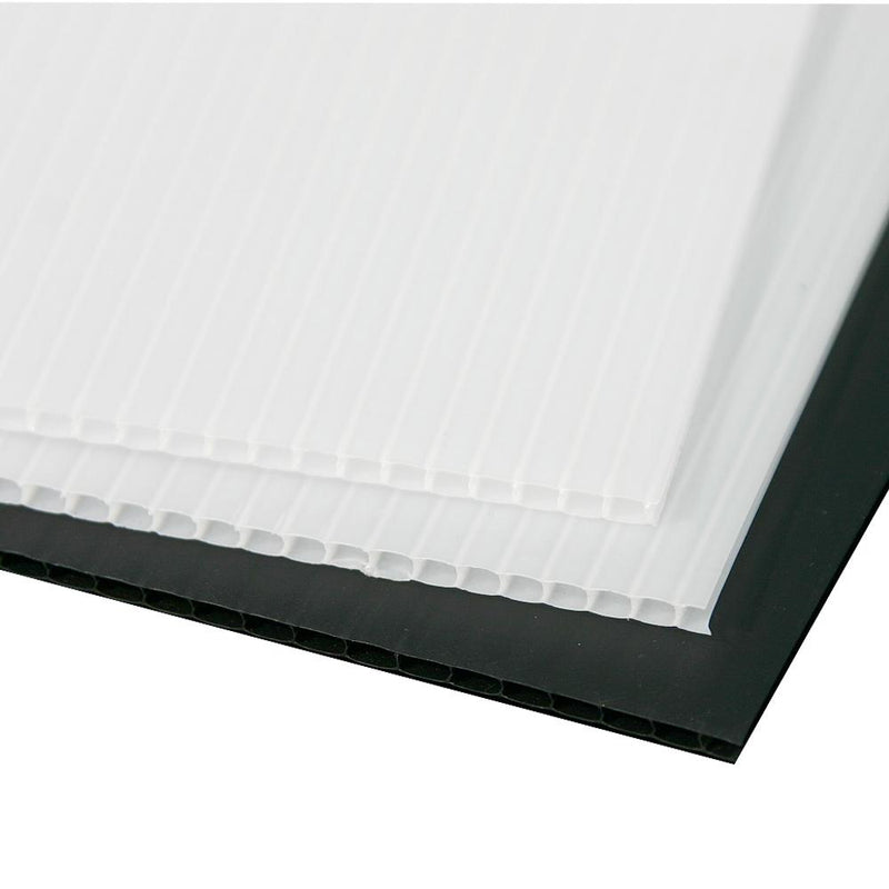 Corflute Protecta-Flute Corflute Black or White 1.8m x 1.2m x 2.0mm (Pack of 10)-Protection-PaintAccess.com.au