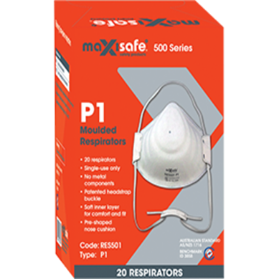 MAXISAFE Disposable Flat Fold Respirator P1-Health & Safety-PaintAccess.com.au