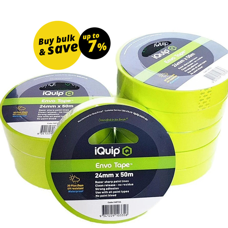 iQuip 30-Day Envo Masking Tape 18mm x 50m