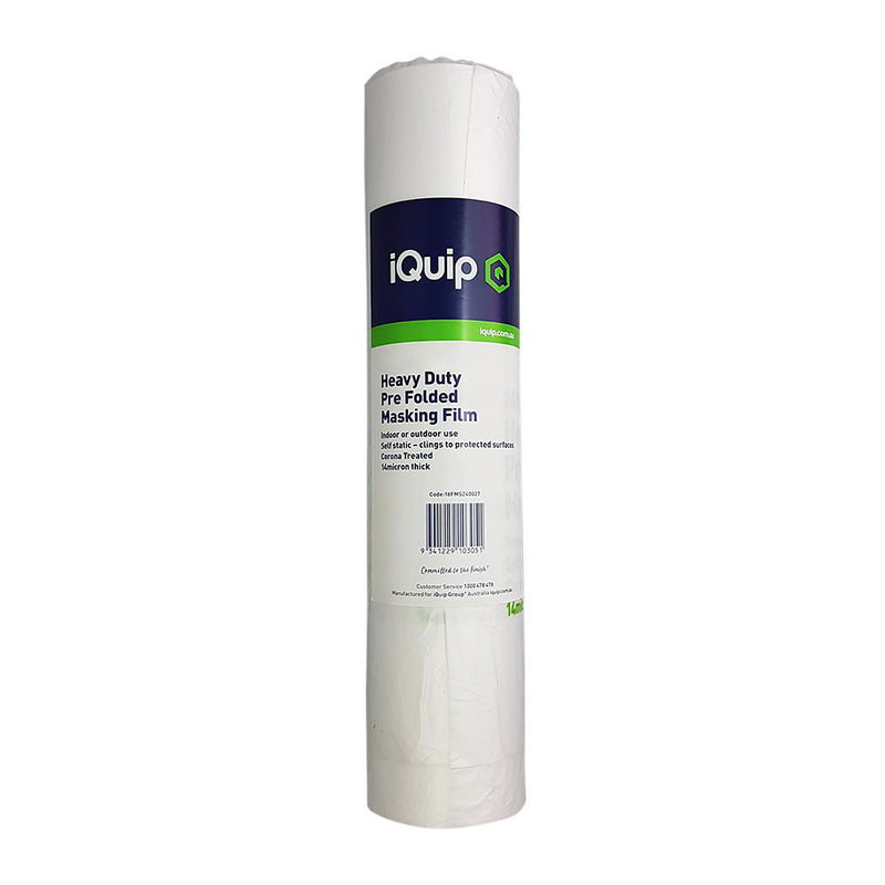 iQuip Prefolded Plastic Masking Film Roll 1810mm x 27m-Protection-PaintAccess.com.au