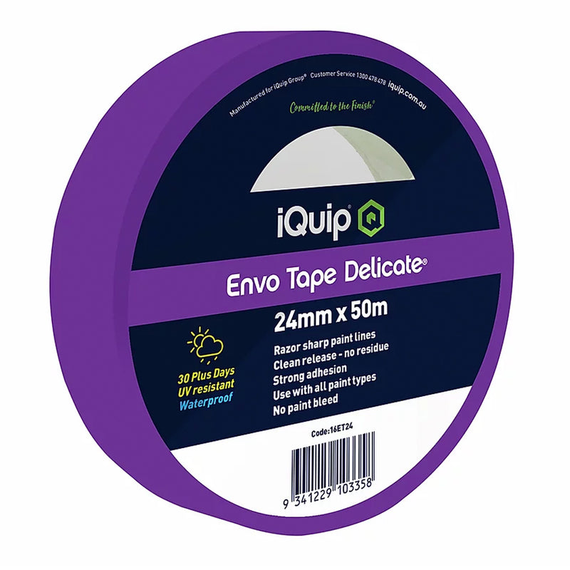 iQuip Delicate Masking Tape 24mm x 50m