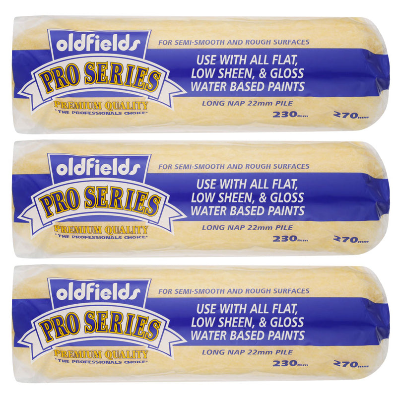 Oldfields PRO SERIES 3pack Roller Covers Premium Quality-Roller-PaintAccess.com.au