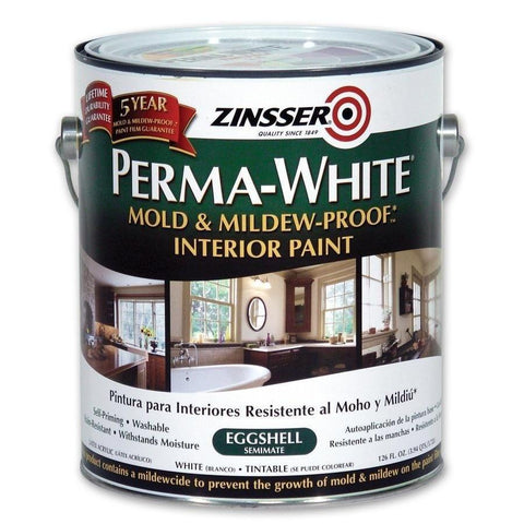 Zinsser Perma-White Eggshell 3.7L - Mould & Mildew Proof Interior Finish Paint