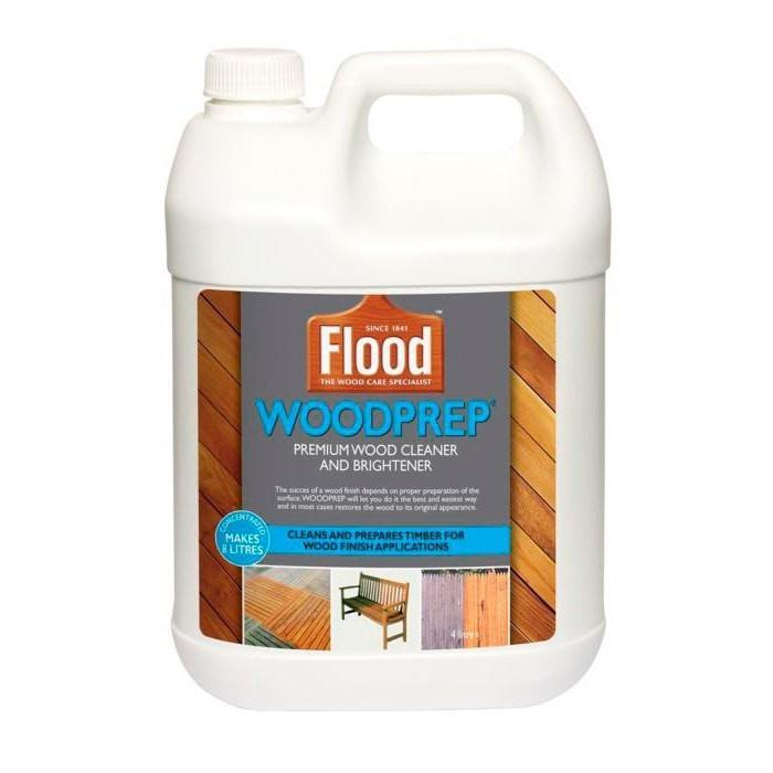Flood WoodPrep Pre-Paint Treatment - 4 litre of concentrate makes 8 litres will clean 50m-Deck Products-PaintAccess.com.au