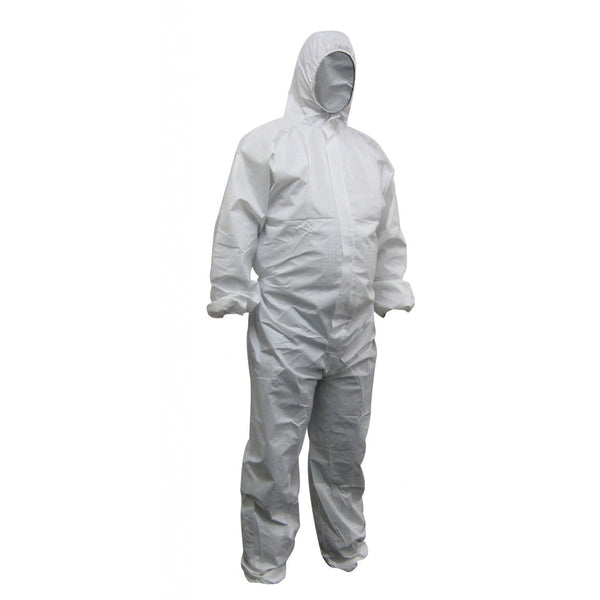 Maxisafe Polypropylene White Protective Coveralls CPW615