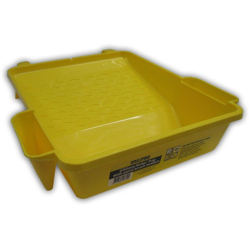 Uni-Pro 230mm Roller tray with Paint brush holders-Tray-PaintAccess.com.au