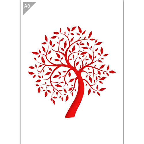 Tree Stencil - Illustrative Tree Stencil - A3 Size Stencil