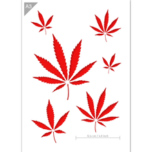 Load image into Gallery viewer, Cannabis Stencil - Weed Stencil - A3 Size Stencil