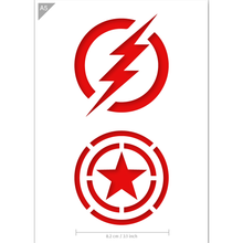 Load image into Gallery viewer, Superhero Stencil - The Flash, Captain America - A5 Size Stencil