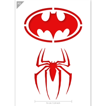 Load image into Gallery viewer, Superhero Stencil - Batman, Spiderman - A5 Size Stencil