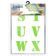 Load image into Gallery viewer, Letter Stencil - Uppercase S, T, U, V, W, X Letters - A3 Size Stencil