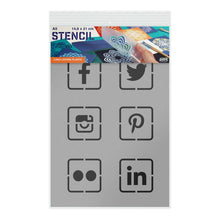 Load image into Gallery viewer, Social Media Stencil - A5 or A3 Size Stencil
