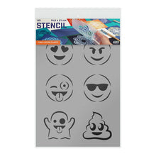 Load image into Gallery viewer, Emoji Stencil - Emoticons Stencil - A5 or A3 Size Stencil