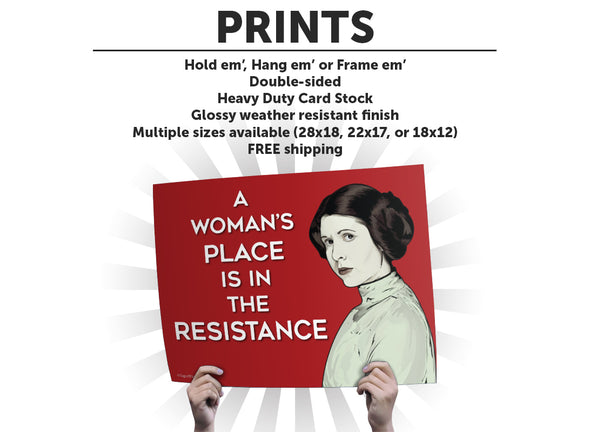 Princess Leia Protest Sign or Poster
