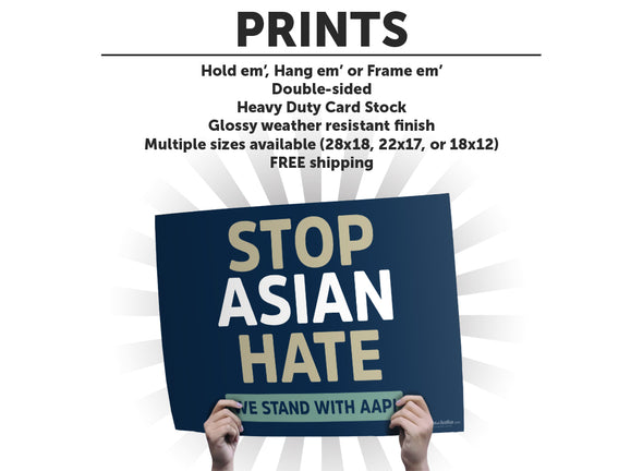 Stop Asian Hate Protest Sign or Poster