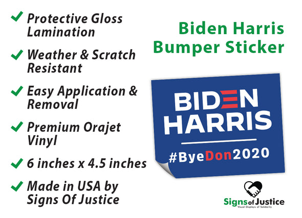 75% OFF (Price Will Show In Cart) Biden Harris #ByeDon2020 Election Bumper Stickers