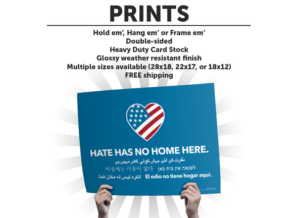 Hate Has No Home Here Protest Sign or Poster