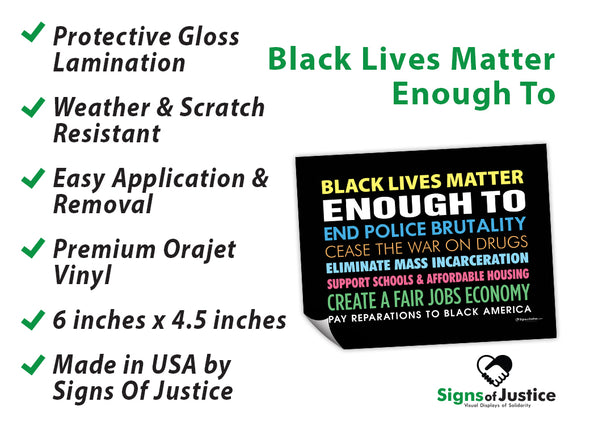 Black Lives Matter Enough To Bumper Stickers